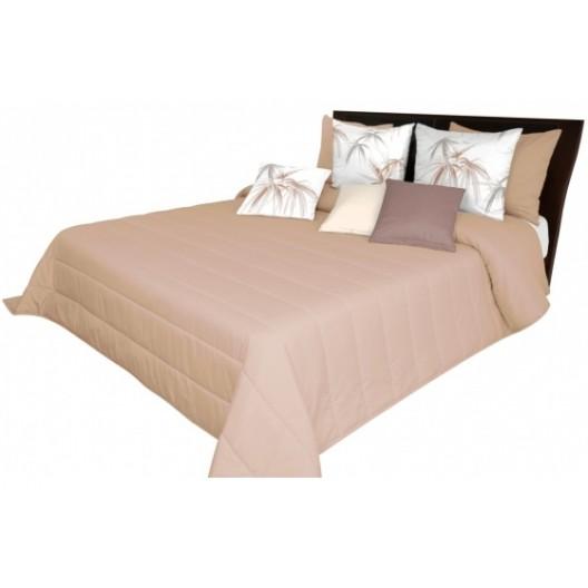 Svetlo hnedý prehoz na posteľ s prešívanými pásmi