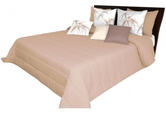 DomTextilu Svetlo hnedý prehoz na posteľ s prešívanými pásmi Šírka: 75 cm   Dĺžka: 160 cm 12857-102693