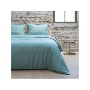 Mentolové posteľné obliečky s nápisom PERFECTLY IMPERFECT