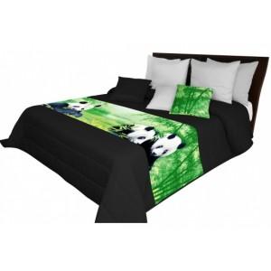 Prikrývka na posteľ s motívom pánd