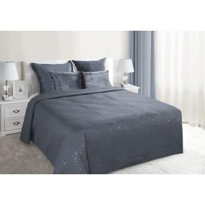 Elegantné posteľné prehozy v tmavo sivej farbe