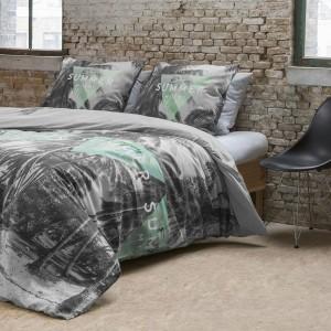 Sivé posteľné obliečky s palmami MIAMI GREY
