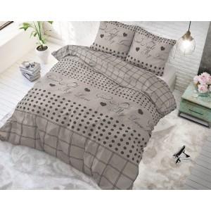 Béžové posteľné obliečky so vzorom GOODIE TAUPE