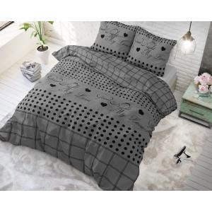 Romantické posteľné obliečky GOODIE GREY