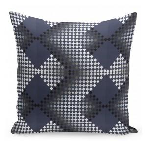 Dekoračné obliečky na vankúše modro sivo čierne
