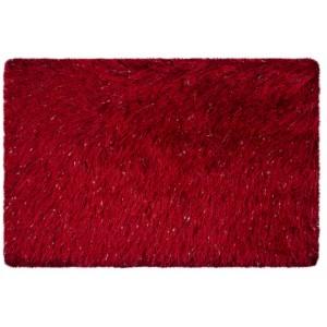 Červené predložky do kúpeľne