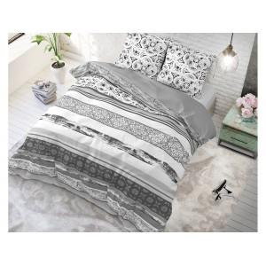 Moderné vzorované posteľné obliečky sivé DECO GREY