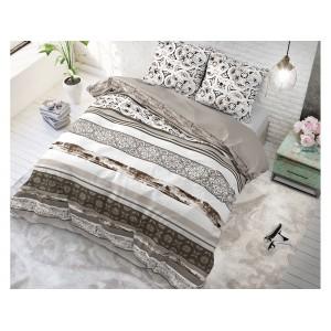 Béžové posteľné obliečky s moderným vzorom DECO TAUPE