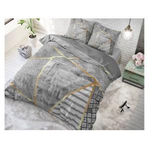 Luxusné obliečky na posteľ sivej farby BLOGGIC GREY