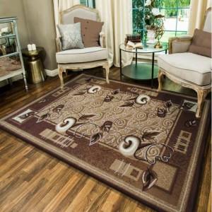 Hnedý kuchynský koberec