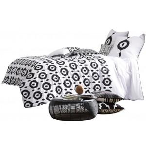 Biele bavlnené francúzske posteľné obliečky DESIRE