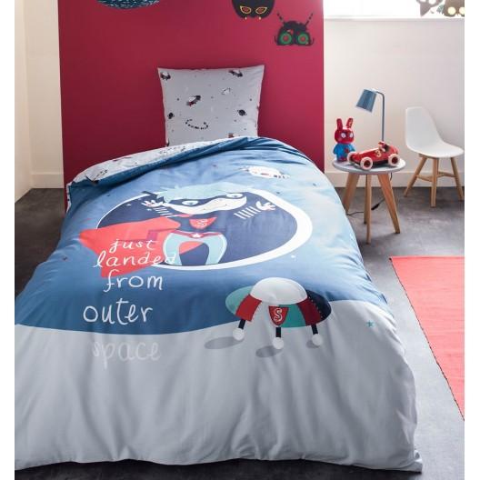 Chlapčenské modré posteľné návliečky GRAVITY BOY