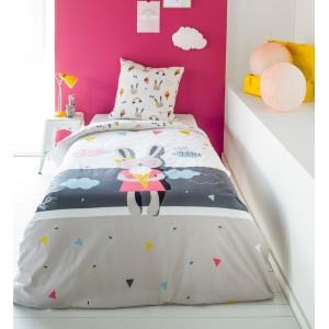 Návliečky na posteľ so zajačikom MISS BUNY