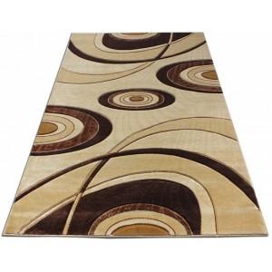 Moderný koberec hnedý vhodný do spálne