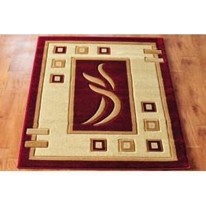 Kvalitný červený kusový koberec
