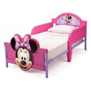 Myška Minnie ružovo fialové postele pre dievčatá