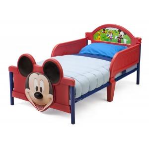 Červené chlapčenské postele MICKEY MOUSE