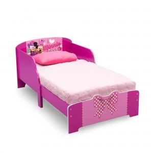 Ružová dievčenská posteľ Minnie so zábranami