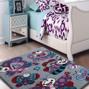 Sivý detský koberec kusový