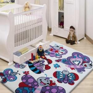 Detský koberec s motýlikmi