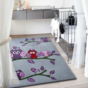 Detský kusový koberec v sivej farbe