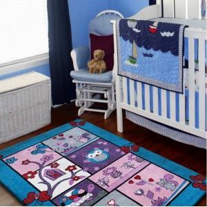 Detský koberec s motívom zvieratok