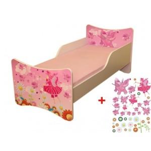 Dievčenská posteľ s motívom víl