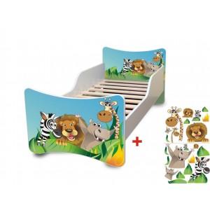 Madagaskar posteľ so zábranou pre deti