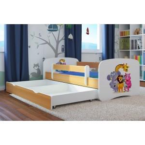 Madagaskar detská posteľ biela