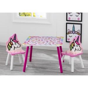 Detský set stola a stoličiek s motívom jednorožca