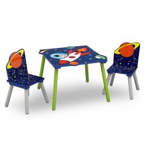 Detský drevený stolík so stoličkami pre chlapcov