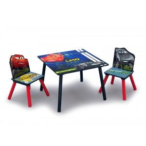 Stôl a stoličky pre deti s motívom rozprávky Autá