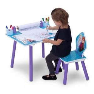 Dievčenský stôl a stolička na kreslenie v motíve Ľadové kráľovstvo