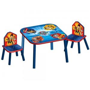 Drevený stolík a stoličky pre deti Labková patrola
