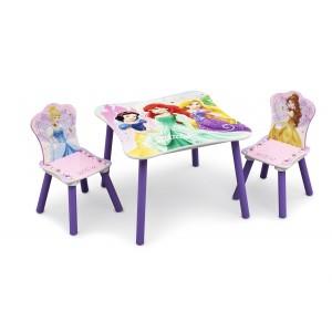Dievčenský stolík so stoličkami s princeznami