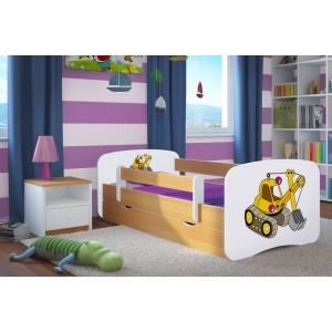 Detská posteľ s motívom bager