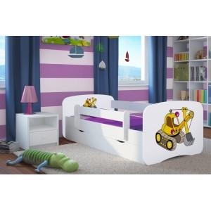 Biela chlapčenská posteľ BAGER