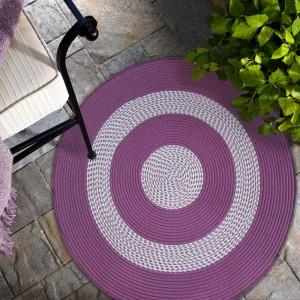 Fialový okrúhly koberec do kuchyne