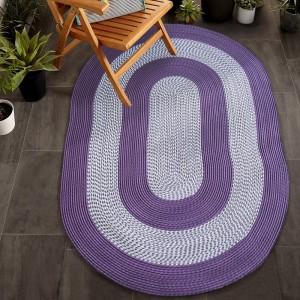 Kvalitný koberec oválny fialovej farby