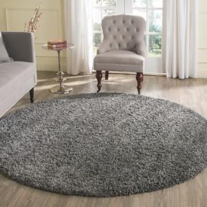 Sivý koberec okrúhly SHAGGY