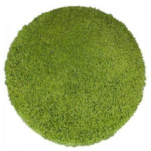 Zelený okrúhly koberec SHAGGY