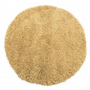 Svetlohnedý shaggy koberec okrúhly
