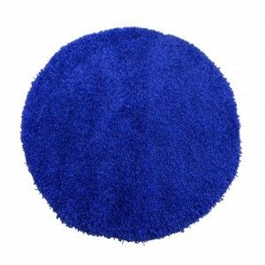 Guľaté koberce modrej farby SHAGGY