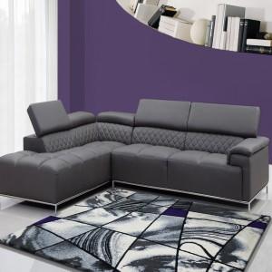 Sivý koberec v modernom dizajne