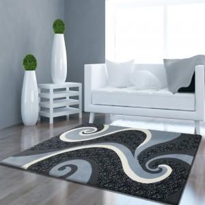 Kusový koberec do obývacej izby sivý