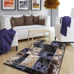 Vintage koberec hnedo fialový