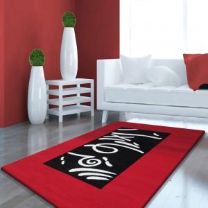 Červený koberec do obývačky