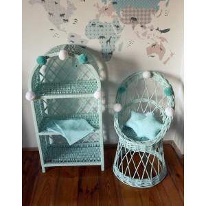 Detské prútené stoličky v rôznch farbách
