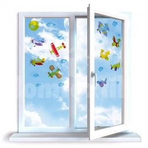 Nálepky na okná do detskej izby