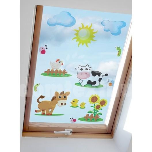 Nalepovacie obrázky na okno s motívom farmy